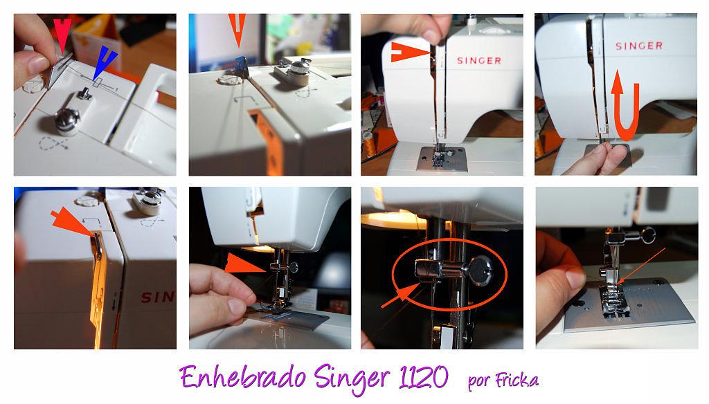 enhebrar maquina de coser